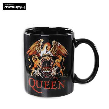 Queen, koffiebeker, Queen, Classic, Crest, Black