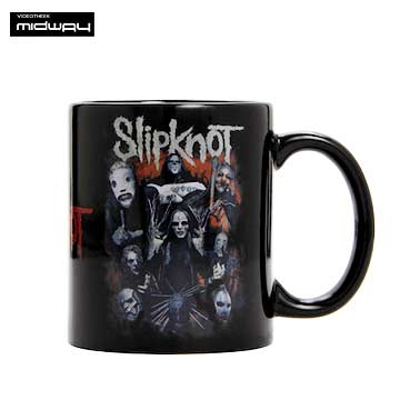 Slipknot, koffiebeker, Come, Play, Dying, Black