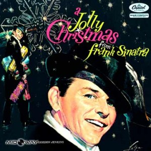 vinyl, album, legendarische, zanger, Frank, Sinatra, A, Jolly, Christmas, From, Lp