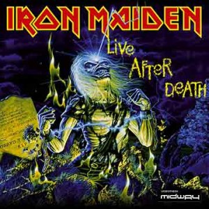 Iron, Maiden, Live, After, Death, Lp