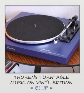 Thorens, Platenspeler, Blauw , Music, On, Vinyl, Edition