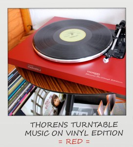 Thorens, Platenspeler, Rood, Music, On, Vinyl, Edition